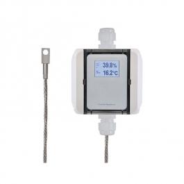 Контактный преобразователь температуры с блоком из стали