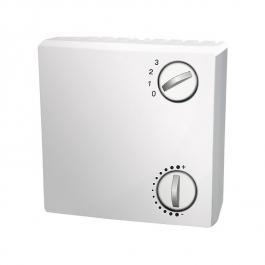 Датчик комнатной температуры, с потенциометром и переключателем, для открытой установки
