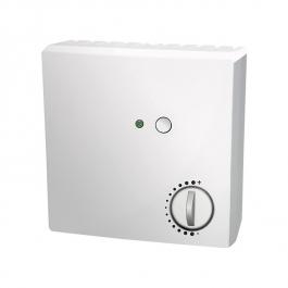 Датчик комнатной температуры, с потенциометром, выключателем и индикатором для открытой установки
