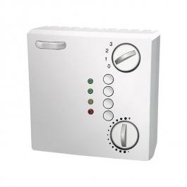 Датчик комнатной температуры, с потенциометром, переключателем, выключателями и 4-мя индикаторами
